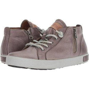 Blackstone JL24 Lace Up Sneakers Brown Gray Leathe